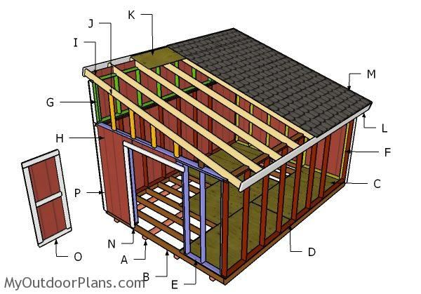 12x16 Lean To Shed Roof Plans Myoutdoorplans Free Woodworking Plans And Projects Diy Shed Wooden Playhouse Pergola Shed Design Lean To Shed Shed Plans