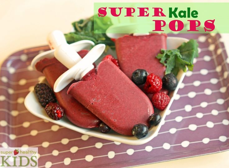 Super Kale Pops! The kids will never know they have kale in them :)