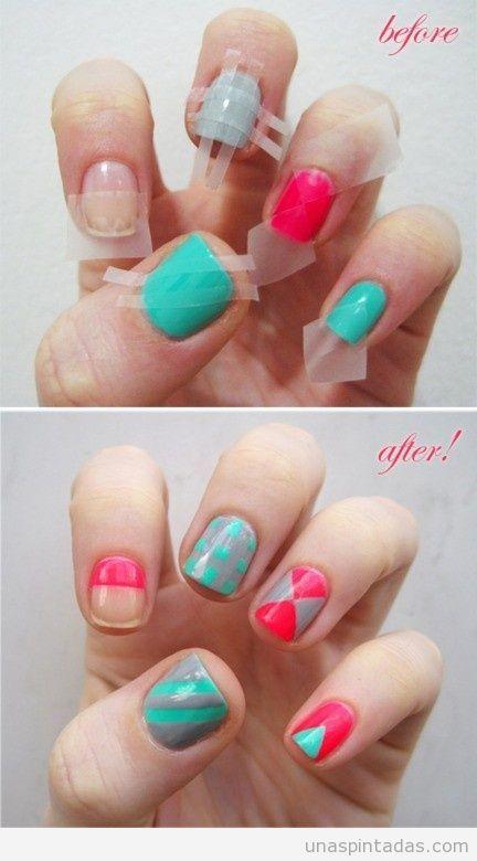 Tutorial paso a paso para decorar las uñas con celo