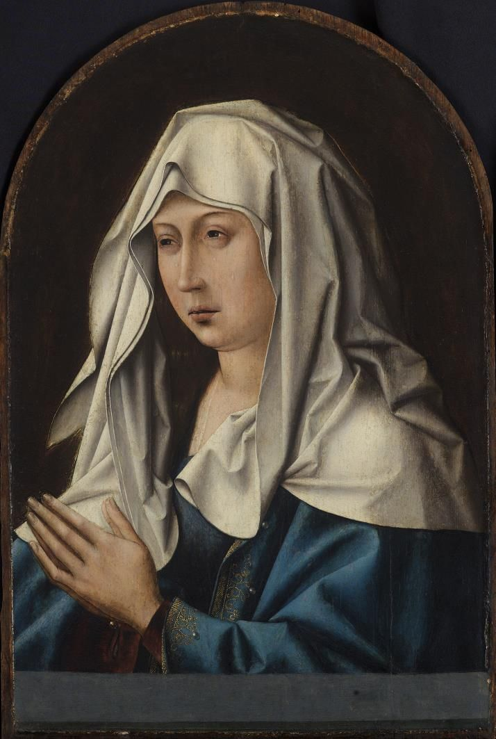 Virgin of Sorrows / Virgen Dolorosa // Flemish, 15th century // Anonymous // Museo de Bellas Artes de Bilbao // #Mary