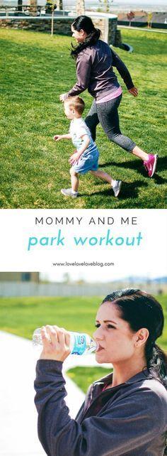 Mommy and me workouts | mommy and me workouts post baby | mommy and me workouts toddlers | park workout playground #PureLife35pk #ad