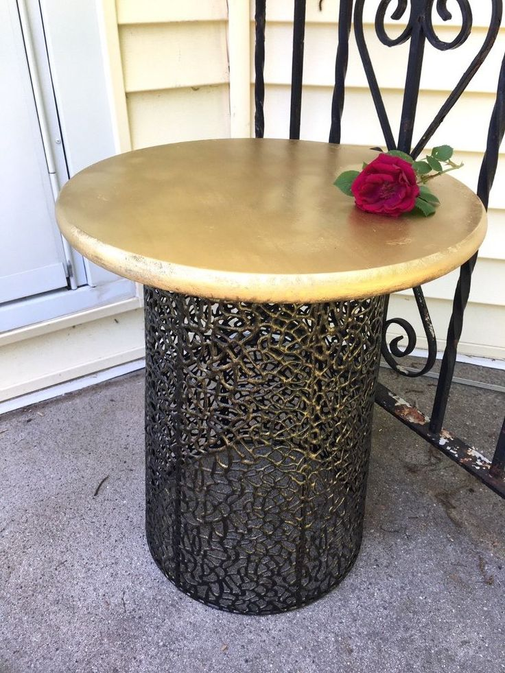 Make a Gorgeous Table from an Inexpensive Wire Basket
