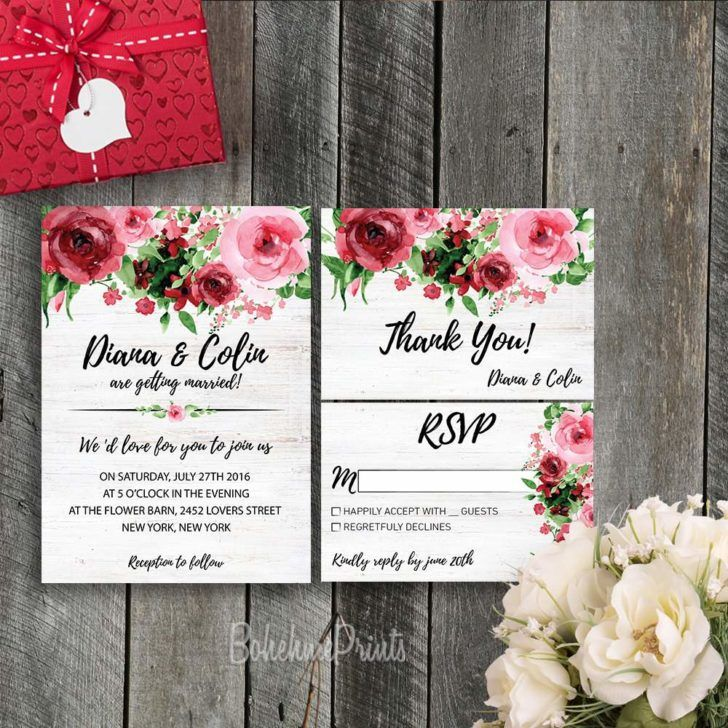 wedding invitation wording with no reception%0A Wedding  Beautiful Etsy Wedding Invitation Wording Template Printable  Floral Wedding Invitation