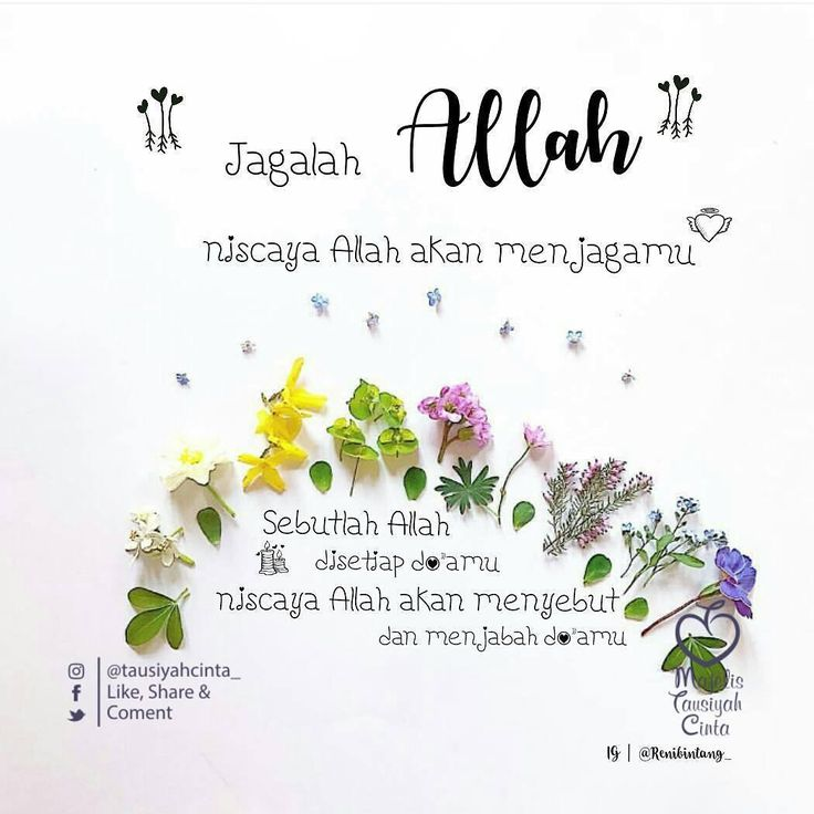 "7,432 Likes, 19 Comments - Majelis Tausiyah Cinta  (@tausiyahcinta_) on Instagram: ""Bismillah~ Jagalah Allah Niscaya Allah akan menjagamu . Sebutlah Allah disetiap do'amu Niscaya…"""