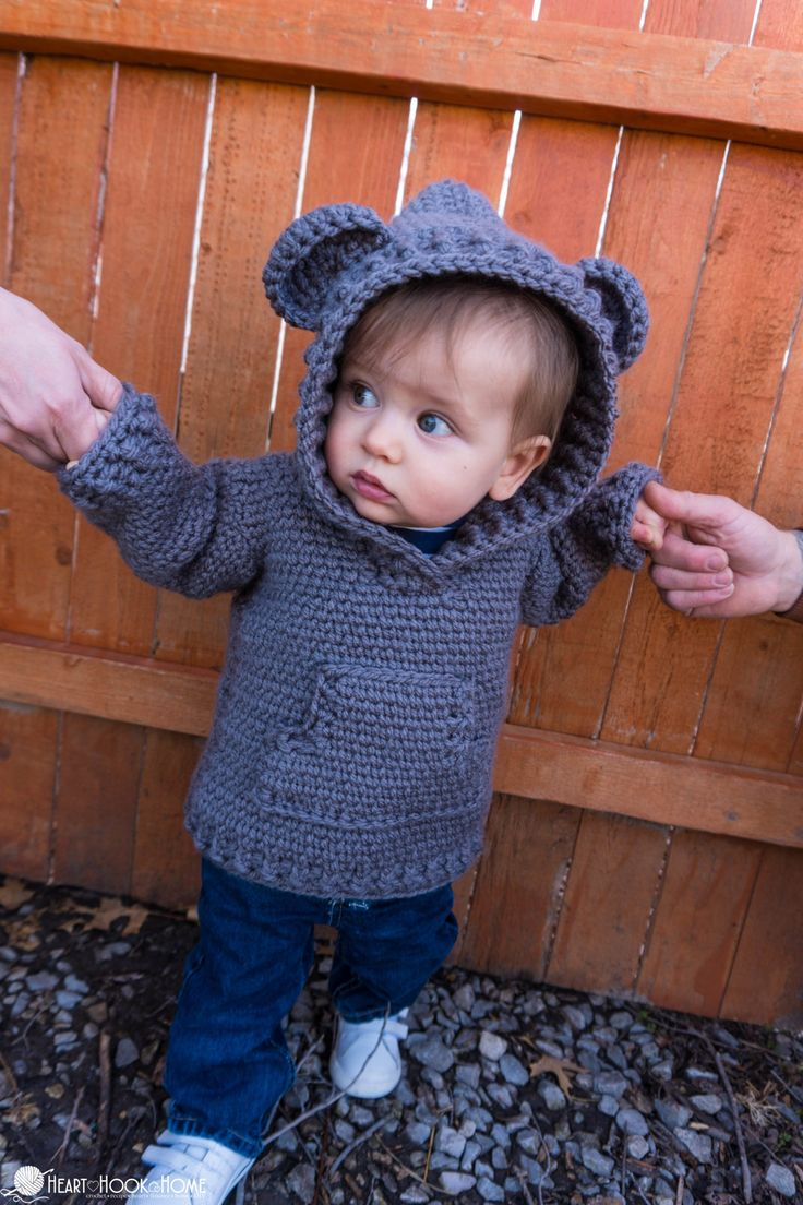 Hibernation Hoodie CHILD Sizes: Free Crochet Patterns
