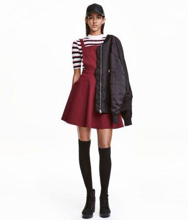 Jersey Bib Overall Dress | Dark red | Ladies | H&M US