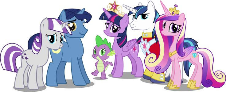 Twilight Sparkles Family by *HampshireukBrony on deviantART