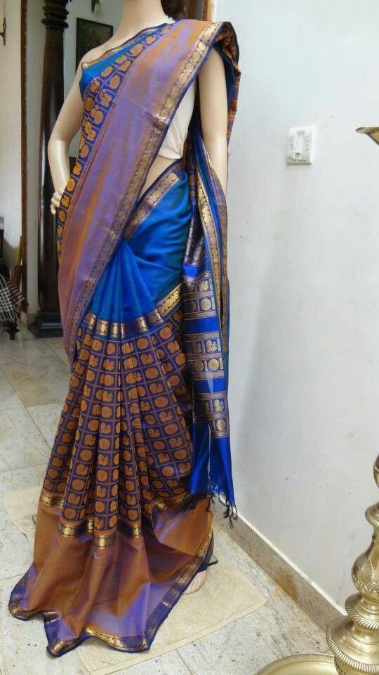 Kanchi silk cotton saree Price: 4200 #elegantfashionwear #kanchi #silk #cotton #onlinesaree
