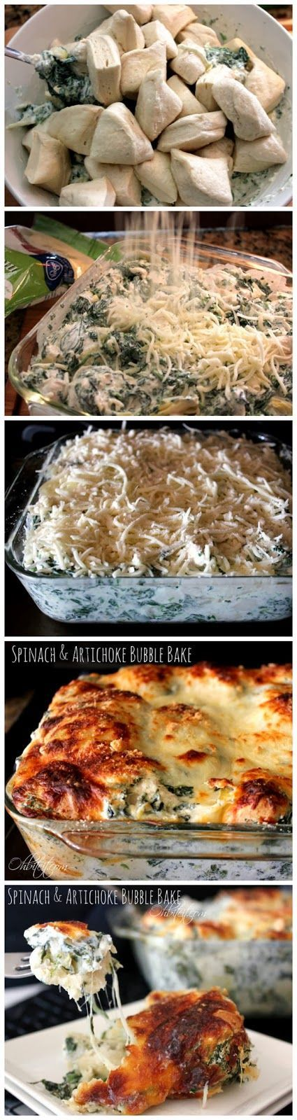 Spinach and Artichoke Bubble Bake