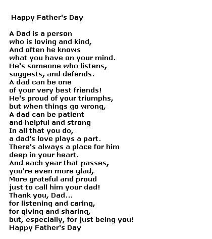Father's Day Poems for Free -- Free Poetry, Poems for Dad @ poemscards.blogsp......