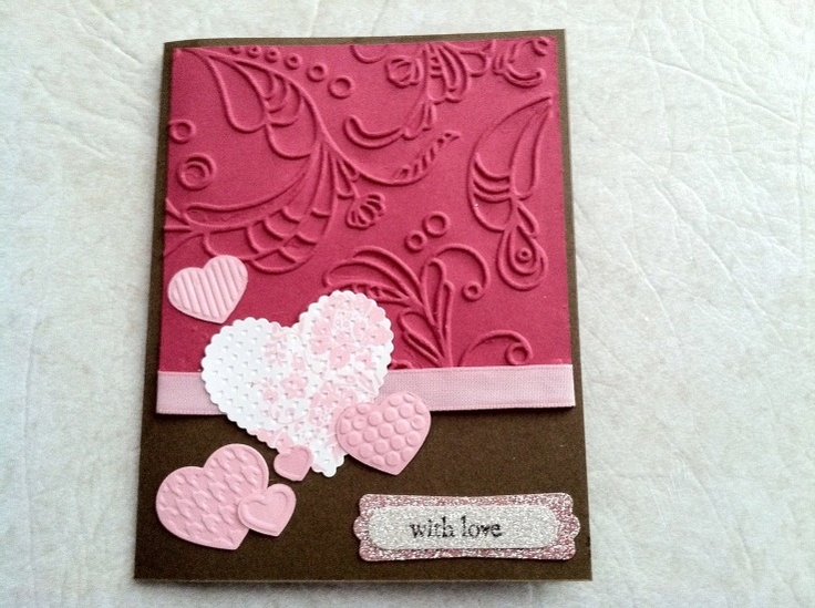ValentineEmbossing File, Stamps Cardstempl, Valentine Cards, Cards Inspiration