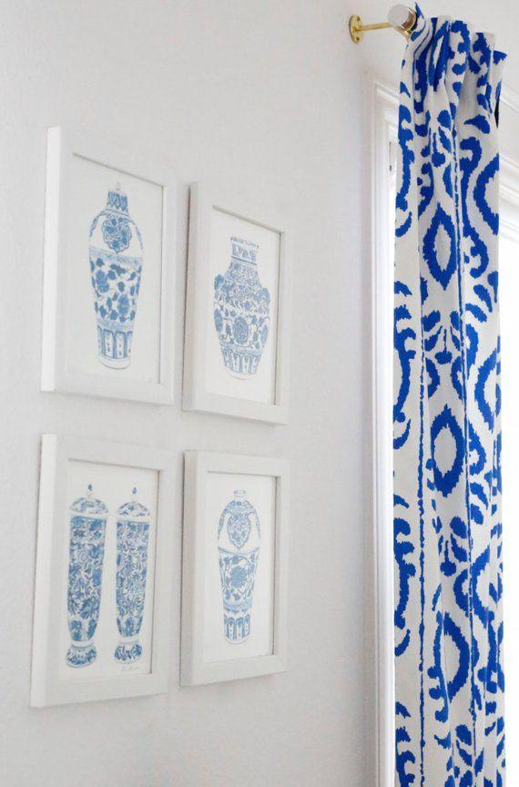 Blue Ikat Curtains Dana Gibson Curtains Stroheim Curtains Curtain