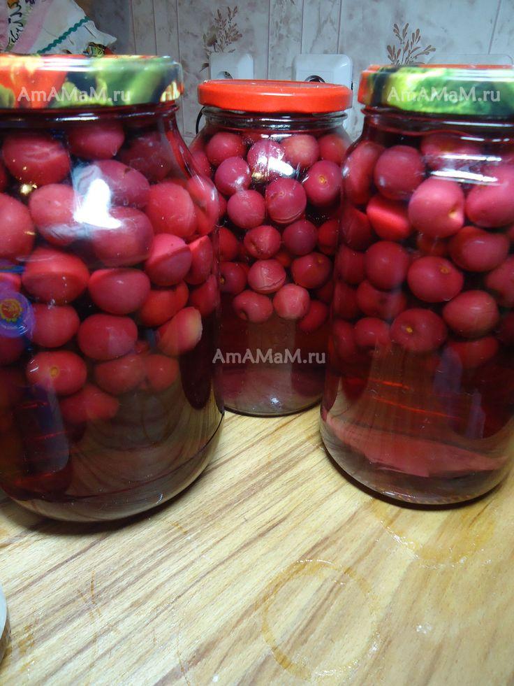 Вишневый компот на зиму - рецепт
