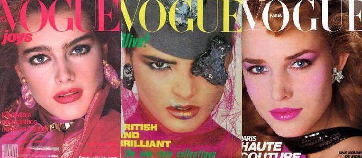 Sinds 1892 bestaat in Amerika het tijdschrift 'Vogue'. Dit is een cover van uit het jaar 1980.