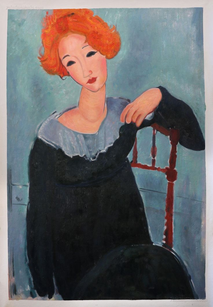 Woman With Red Hair Amedeo Modigliani Hand Painted Oil Etsy Amedeo Modigliani Modigliani Modigliani Art