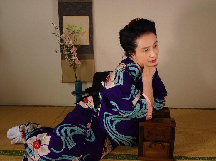 冬 染め巨大水仙模様錦紗