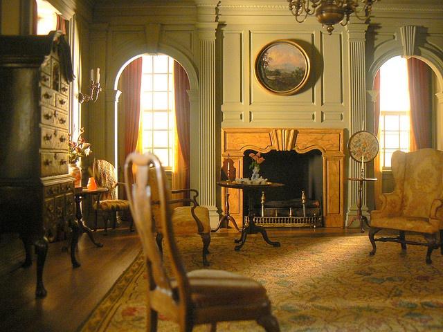 Warm Victorian living room