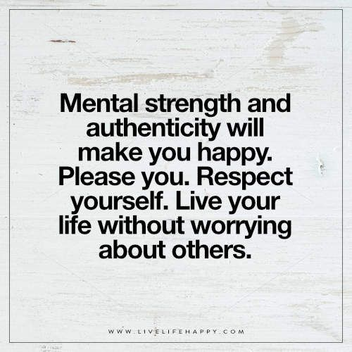 Mental Strength and Authenticity