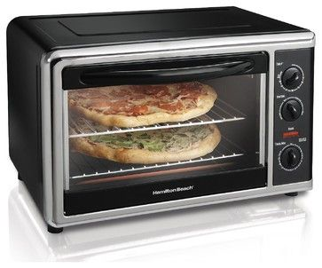 Hamilton Beach Countertop Oven With Convection & Rotisserie $99.99 Rachel Khoos oven in Paris looks like a toy, yet she manages to cook up a storm in it. Try this countertop oven if you are short on space. — Valorie Hart Product Specifications:      Sold By:Sears | Visit Store »     Category:Ovens     Style:Modern