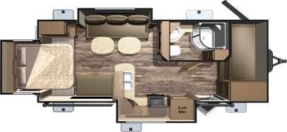 Highland Ridge RV Light LT221RQB Floorplan