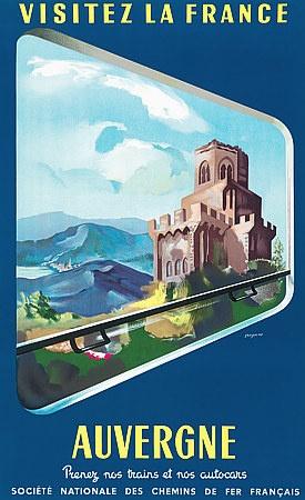 Auvergne, France http://www.vintagevenus.com.au/products/vintage_poster_print-tv410