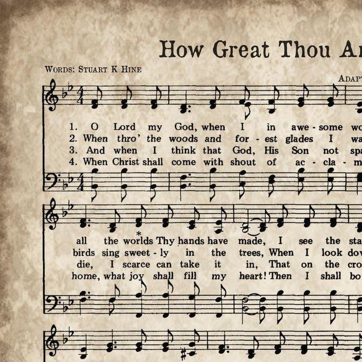 How great thou art print printable vintage sheet music
