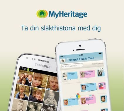 Vi är glada att tillkännage en uppdaterad version av MyHeritages mobilapp! Läs mer: http://blog.myheritage.se/2014/07/stora-uppdatering-av-myheritages-mobilapp/