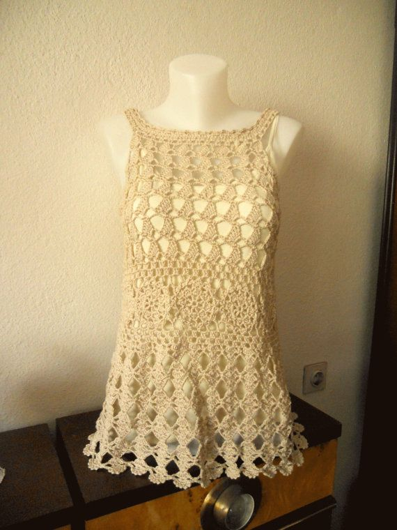 ... on Pinterest Crochet summer dresses, Crochet summer and Crochet
