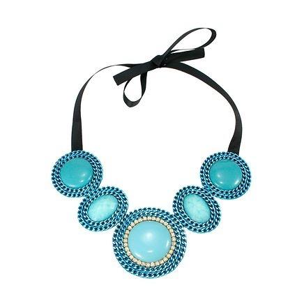 Maxi colar azul flúor
