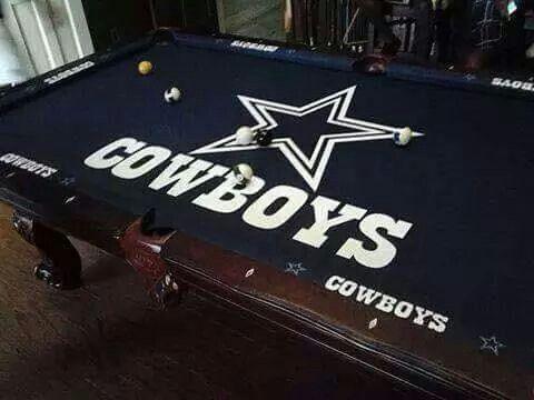 Pink Rug Cowboys pool table
