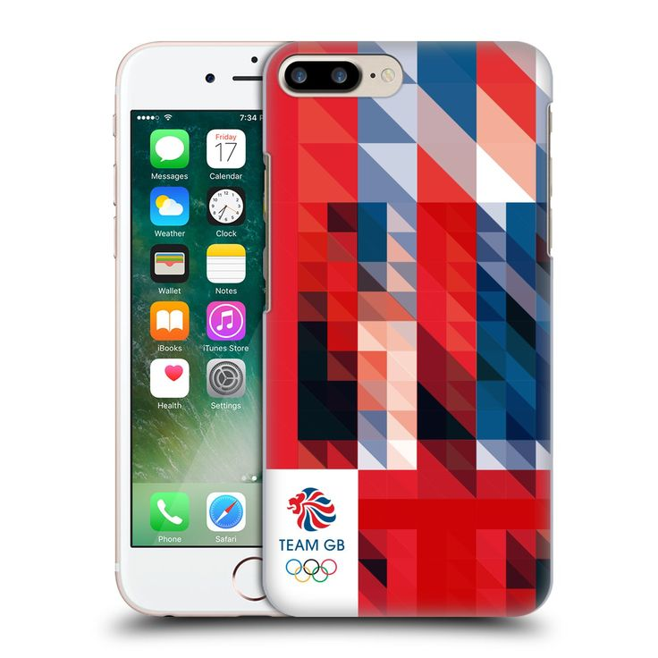 Official Team GB British Olympic Association White Square Geometric Union Jack Hard Back Case for Apple iPhone 7 Plus -- Awesome products selected by Anna Churchill