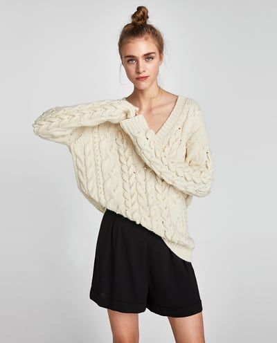 f3ddf878 Tweed jacket with sequins   Products I Love   Cable knit sweaters ...