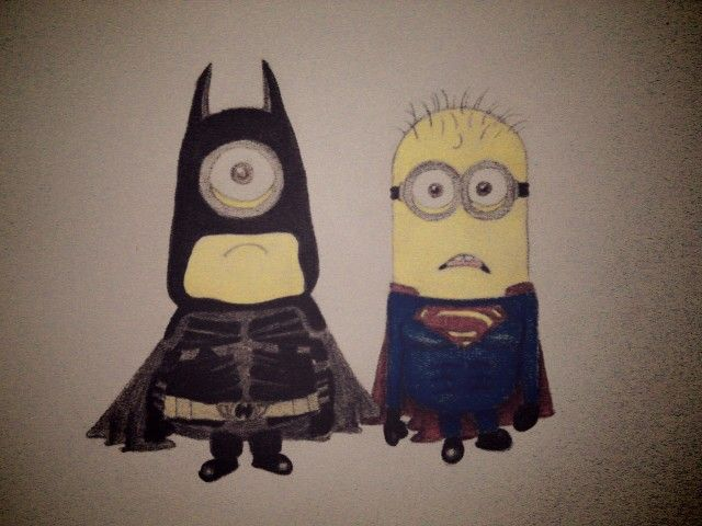 #minion#batman#superman#lovely <3