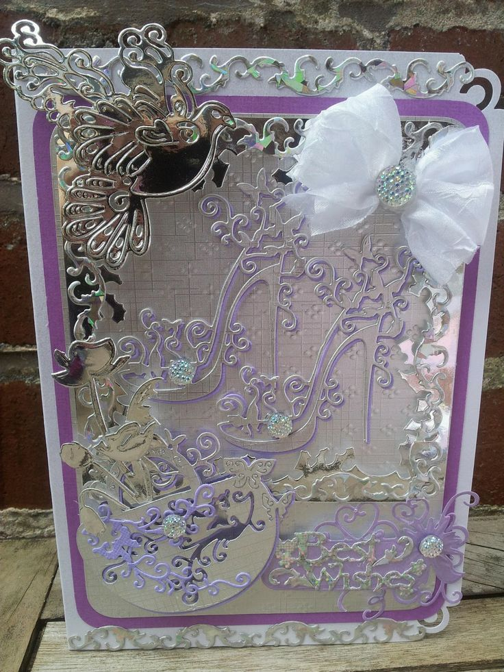 Card Making Ideas Using Tattered Lace Dies Part - 48: High Heel Shoe Cards Using Tattered Lace Dies