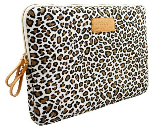 Black Friday Kayond®Cute Leopard's Spots Style Canvas Fabric Ultraportable Neoprene 13-13.3Inch Laptop / Notebook Computer / MacBook / MacBook Pro / MacBook Air Sleeve Case Bag Cover from kayond Cyber Monday