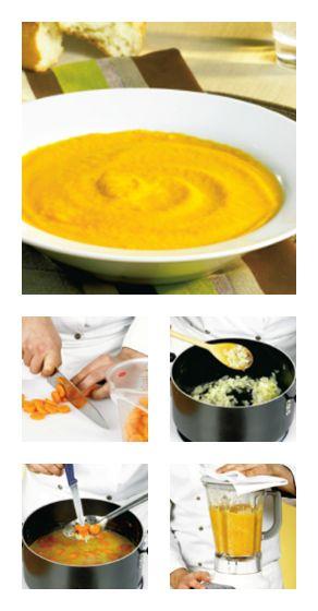 Comment faire un #potage aux #legumes en 4 étapes simples!