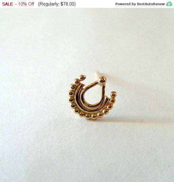 Nose Piercing. Tribal Nose stud. nose ring. Indian Nose by siharah