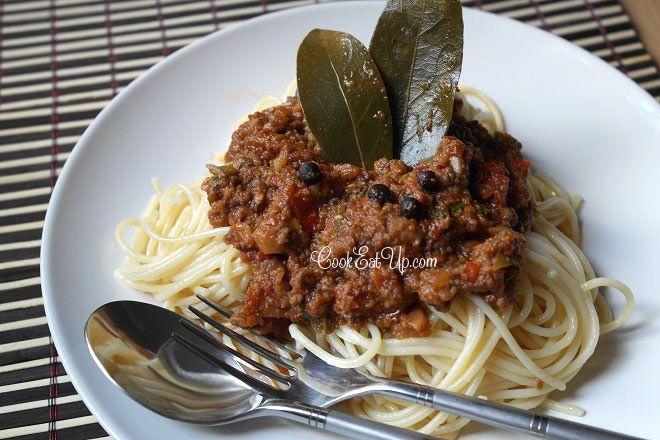 Σπαγγέτι μπολονέζ χωρίς κιμά ⋆ Cook Eat Up!