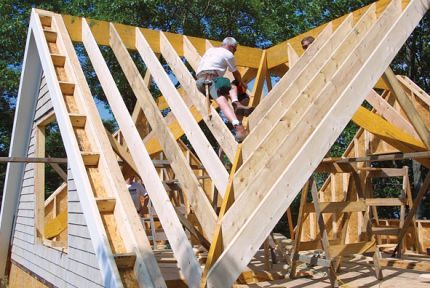 Cross Gable Roof Design Charpente Bois Maison Ossature