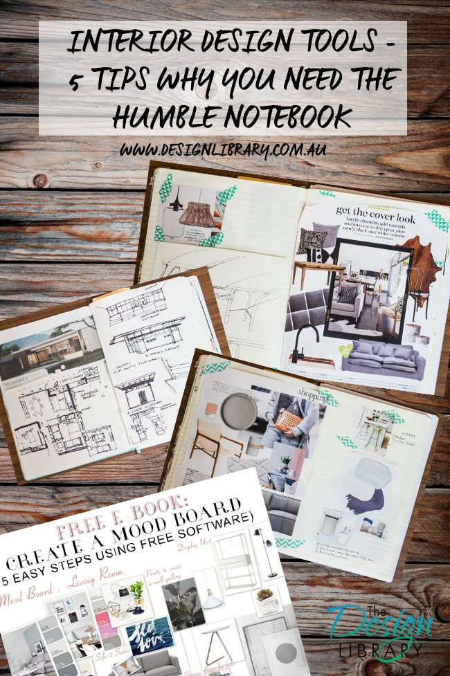 Interior Design Tools - 5 Tips Why You Need The Humble Notebook - Create  Your Design