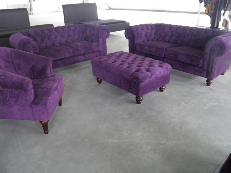 1000 id es sur le th me canap violet sur pinterest salon meubles violet e - Fauteuil chesterfield velours gris ...