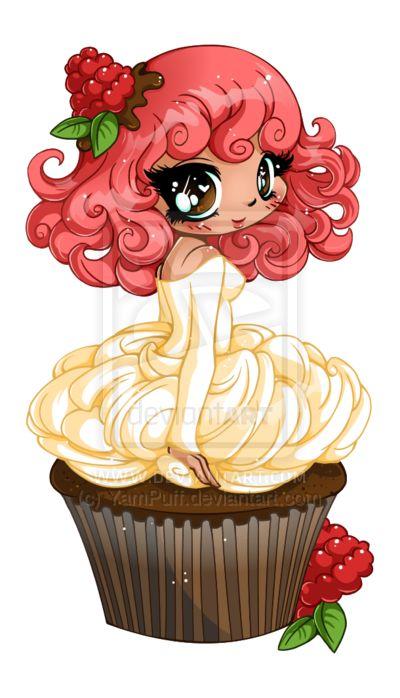 Raspberry Ganache Girl - Commission by YamPuff.deviantart.com on @deviantART