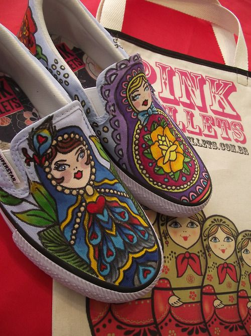 Matryoshka pink bullet shoes.