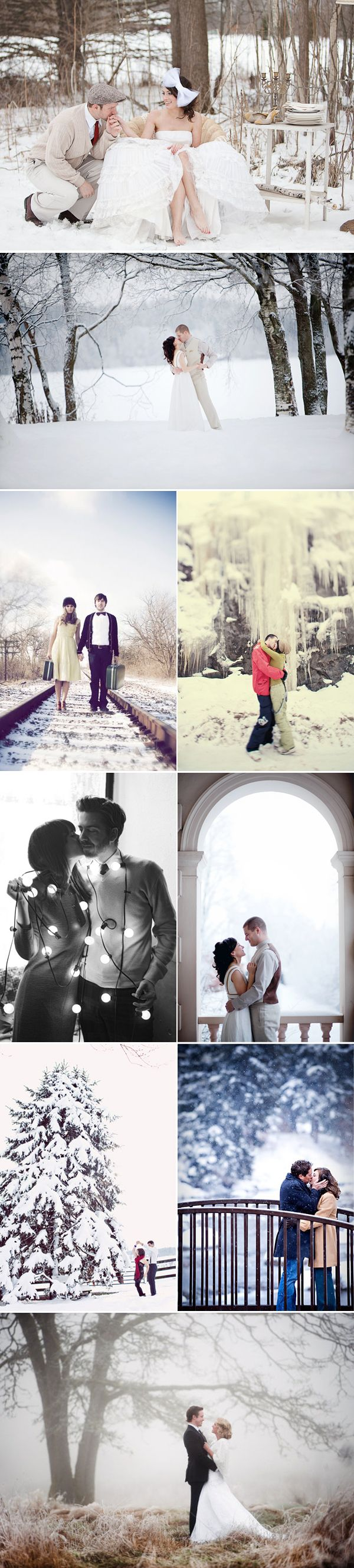 Love the winter engagement photos!!!