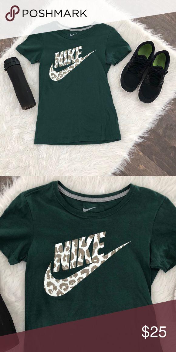 Nike Leopard and Green Short Sleeve Tee Nike Leopard and Green Short Sleeve Tee Nike Tops Tees - Short Sleeve