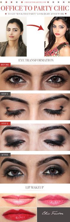 Office to party chic makeup..