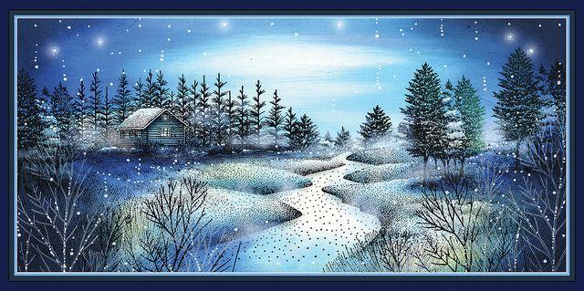 Snowy Cabin by kn_97, via Flickr