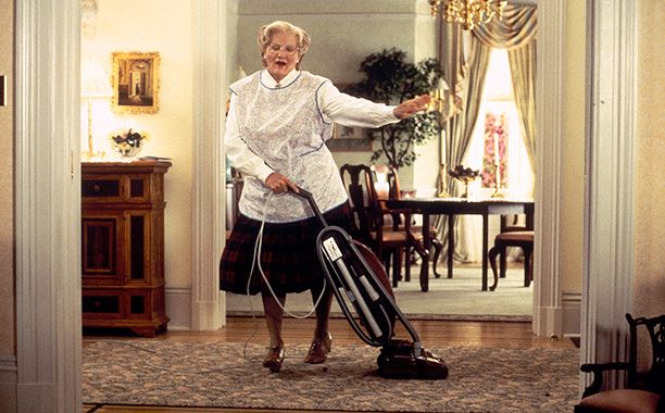 The iconic house from Mrs. Doubtfire is going on the market. Nanny not included.  Robin Williams' on-screen family occupied the San Francisco home in the 1993 family film where the comedian disguised himself and assumed the persona of a proper British nanny, one Mrs. Doubtfire, in order to be closer to his three children after his ex-wife (Sally Field) gets full custody, restricting his access to them.