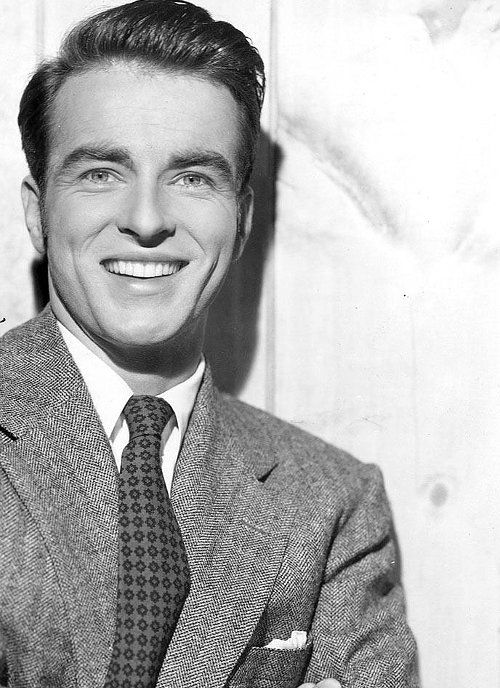Montgomery Clift: A rare picture of him smiling.