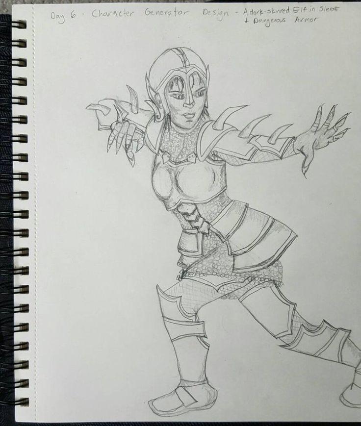 dark_elf_in_armor__day_6_by_magechild-daamlrh